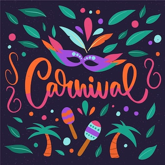 Ручной обращается плакат карнавал партии