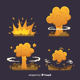 Hand drawn cartoon explosion effect collection
