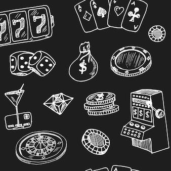 Hand drawn casino illustration