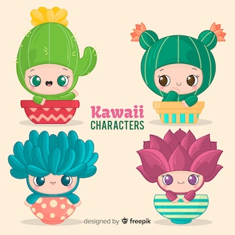 Hand drawn charming disguised babies collection
