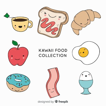 Hand drawn charming food collection