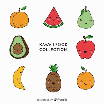 Hand drawn charming fruit and vegetable collection