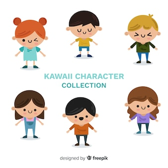 Hand drawn charming kids collection