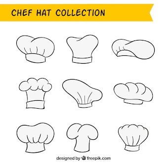 Hand-drawn chef hat pack