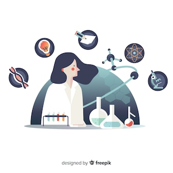 Hand drawn chemist background