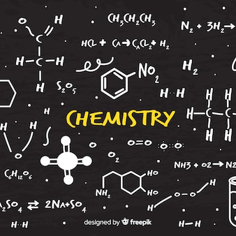 Hand drawn chemistry blackboard