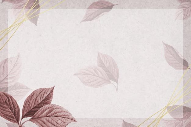 Hand drawn cherry leaf