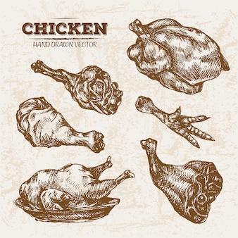 Рисованные курицы