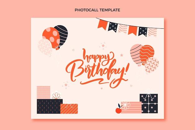 손으로 그린 어린이 생일 photocall