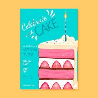 手描きの子供のような誕生日のポスター