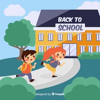 Hand drawn children back to school background