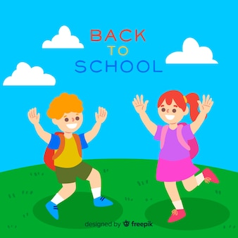 Hand drawn children back to school background