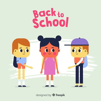 Hand drawn children back to school