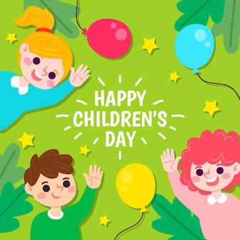 Hand drawn children's day