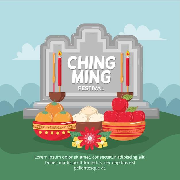 Hand drawn ching ming festival illustration