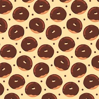 Hand drawn chocolate donuts pattern