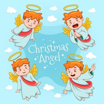 Hand drawn christmas angel
