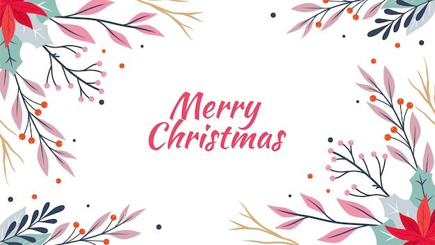 Hand drawn christmas background 5