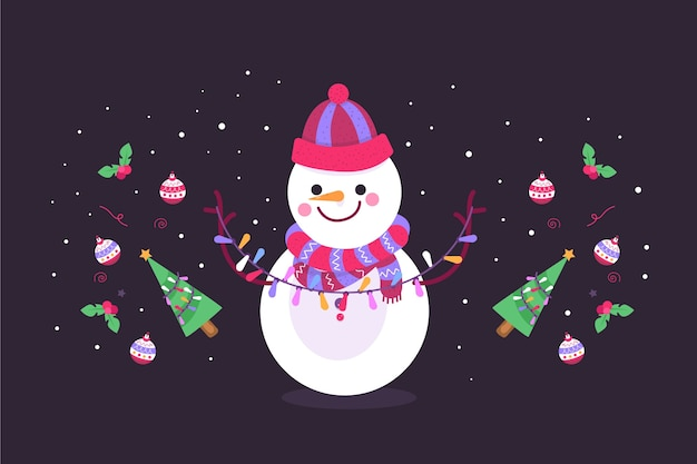 Hand drawn christmas background concept