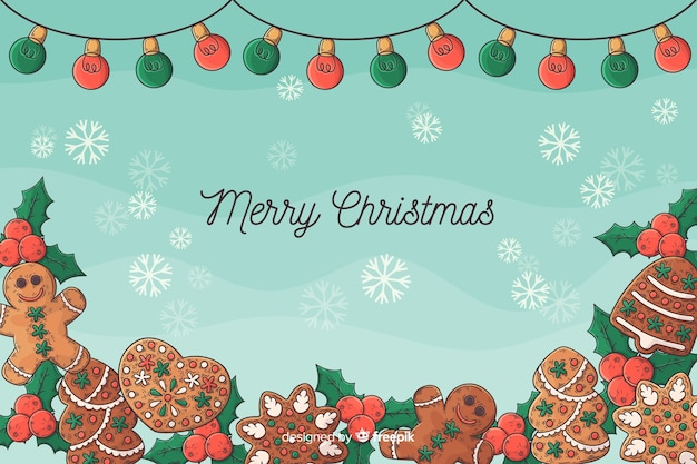 Hand drawn christmas background