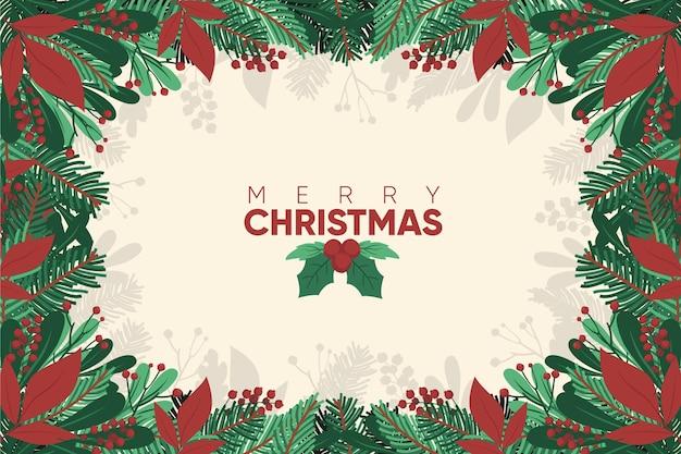 손으로 그린 크리스마스 배경
