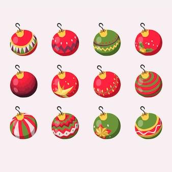 手描きのクリスマスボールの飾り