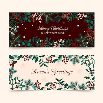 손으로 그린 된 크리스마스 배너 서식 파일