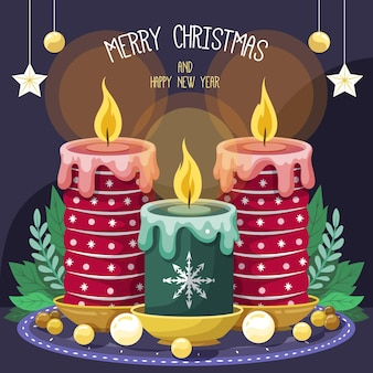 Рождественский фон свечи