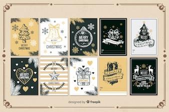 Hand Drawn Christmas Card Collection