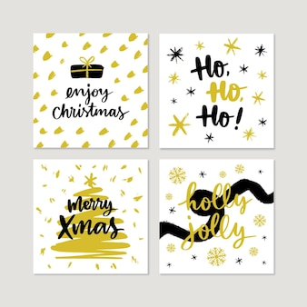 Hand drawn christmas cards collection