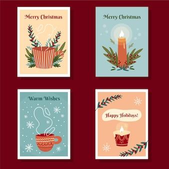 손으로 그린 된 크리스마스 카드 서식 파일