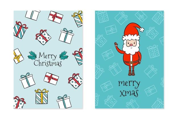 Рождественские открытки рисованной