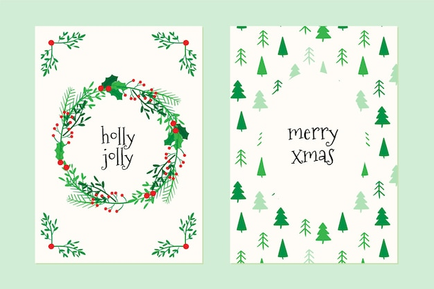 Hand drawn christmas cards