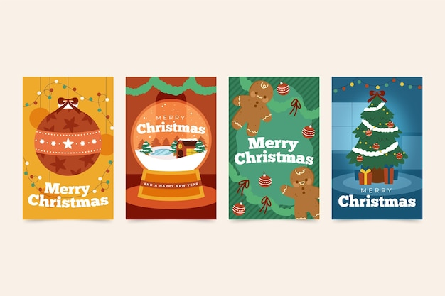 손으로 그린 크리스마스 카드