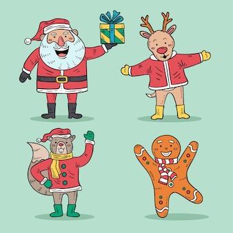 手描きのクリスマス文字セット