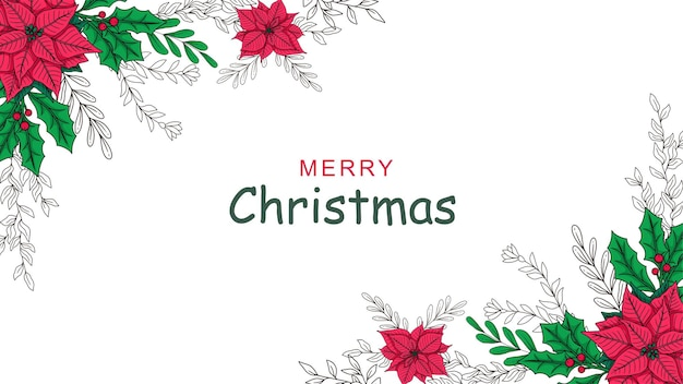Hand drawn christmas decoration background c