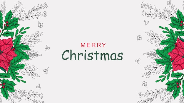 Hand drawn christmas decoration background a