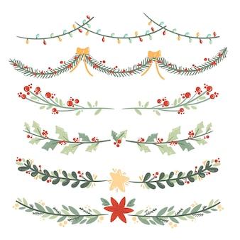 手描きのクリスマスデコレーションコレクション