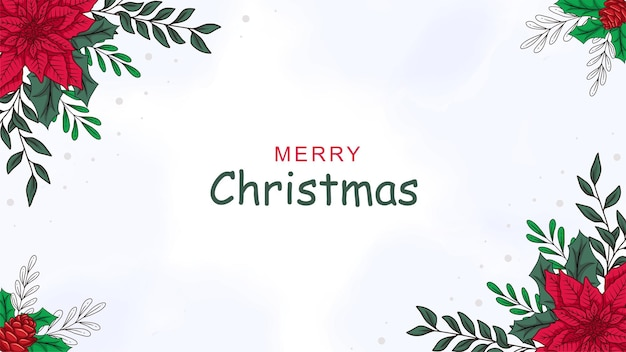 Hand drawn christmas decoration holiday card background