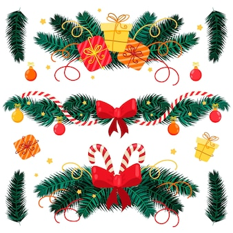 Decorazione natalizia disegnata a mano