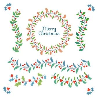 Confezione di decorazioni natalizie disegnate a mano