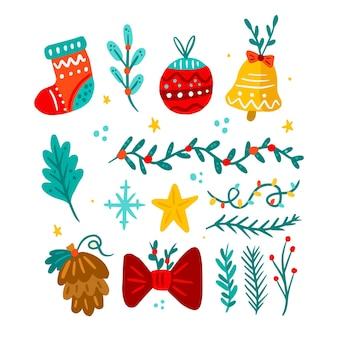 Decorazioni natalizie disegnate a mano