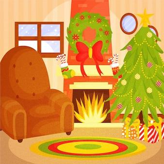 Ручной обращается рождественский камин