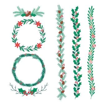 Рождественские рамки и бордюры
