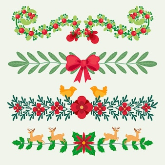 Hand drawn christmas frames and borders