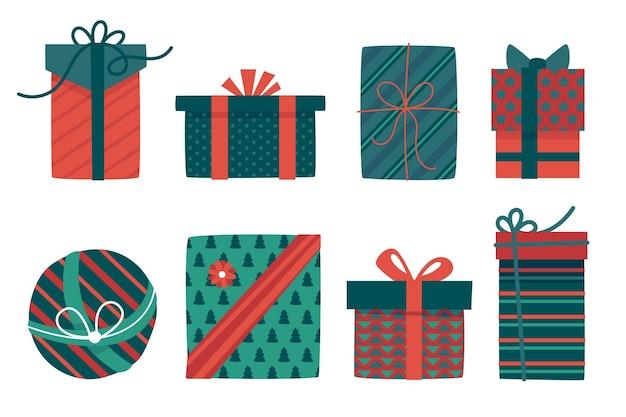 손으로 그린 크리스마스 선물 컬렉션