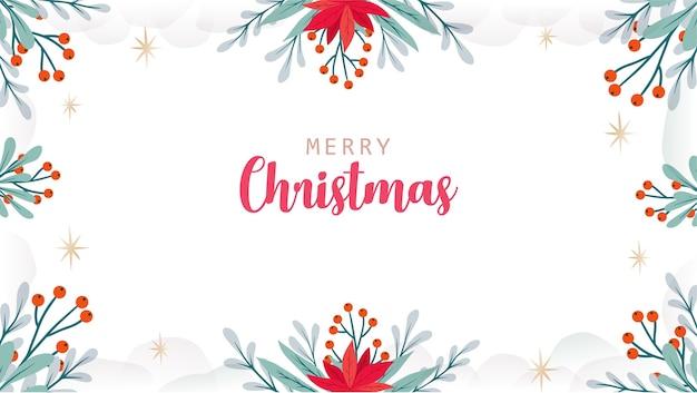 Hand drawn christmas greeting card