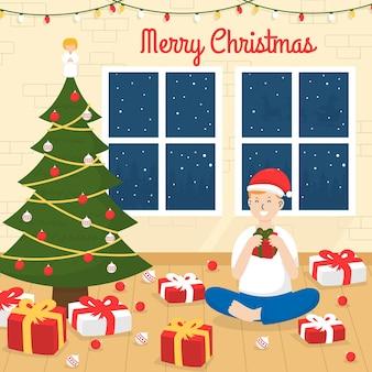 Нарисованная рукой рождественская иллюстрация