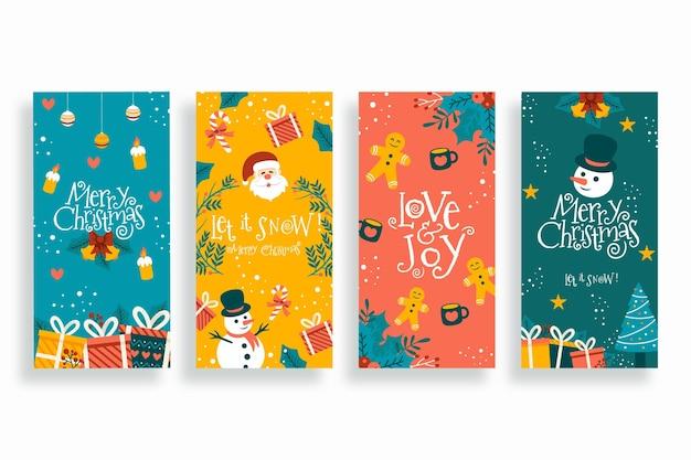 手描きのクリスマスinstagramストーリーコレクション