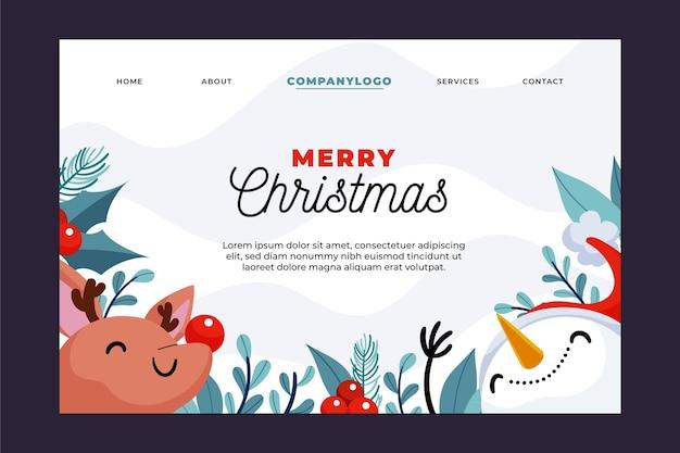 Ручной обращается рождественская целевая страница